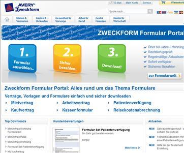 AVERY Zweckform Formular Portal